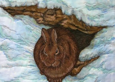 WINTER EARLY MORNING LIGHT – RABBIT – 12″ X 12″