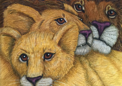PRIDE – CHERRYWOOD CHALLENGE LION KING – 20″ X 20″