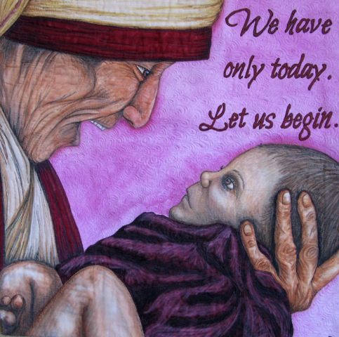 LET US BEGIN – MOTHER THERESA – 24″ X 24″