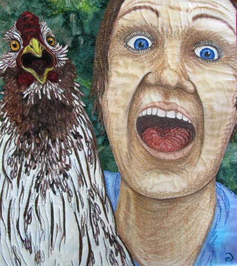 SELFIE – ASHLEY AND DR. PECKER – 16″ X 14″