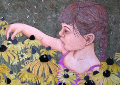 HOW SWEET IT IS – BUZZING WITH BEES – 26″ X 35″